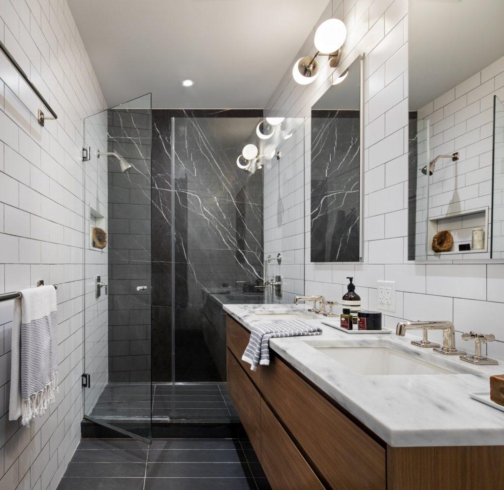 White Bathroom Subway Tile
