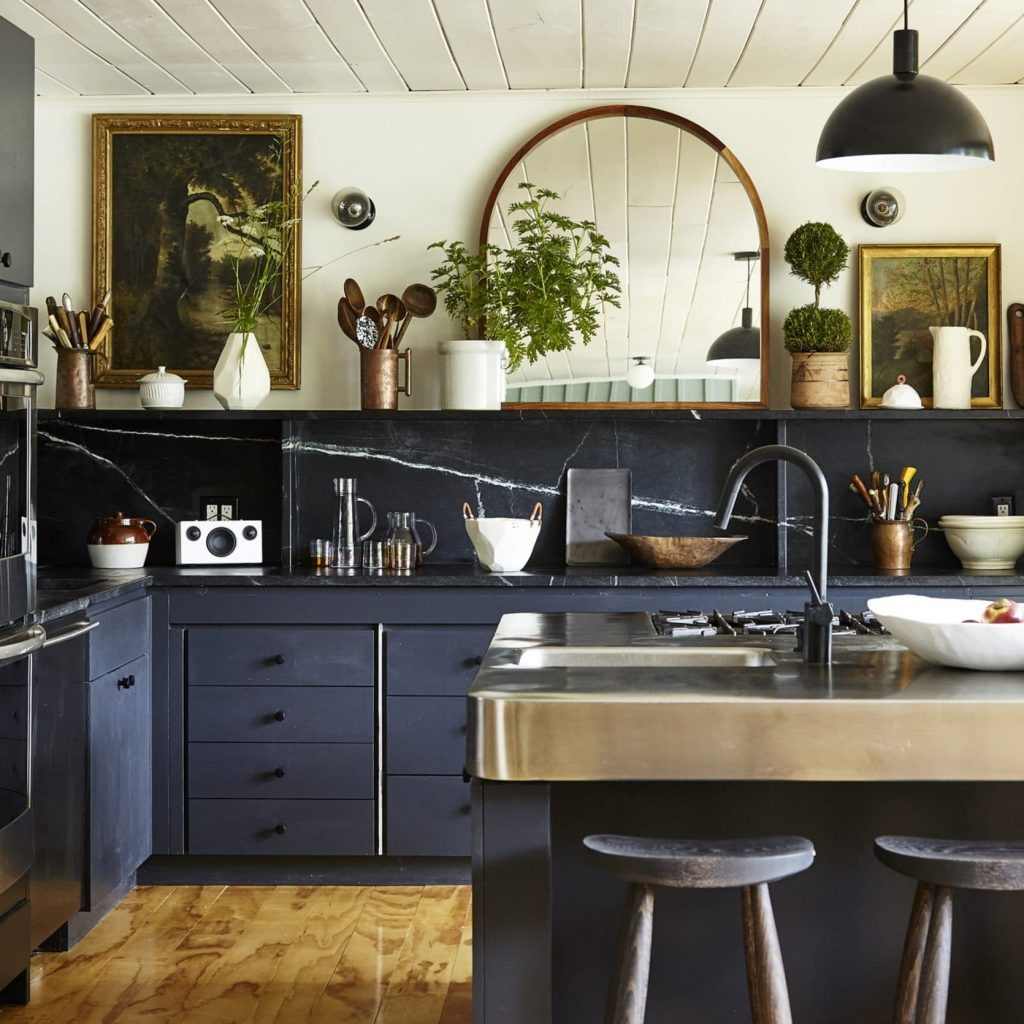 Navy Blue Vintage Kitchen